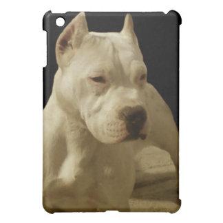 White Pitbull Terrier Cover For The iPad Mini