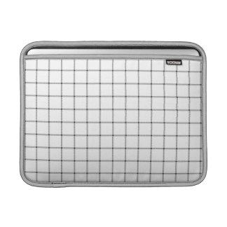 White Plaid Sleeves For MacBook Air