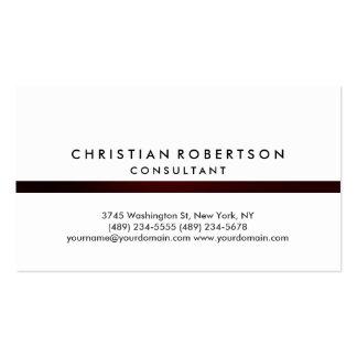 White Plain Modern Consultant Business Card