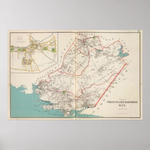 White Plains, Harrison, Rye towns Print
