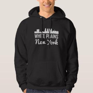 White Plains New York Skyline Hoodie