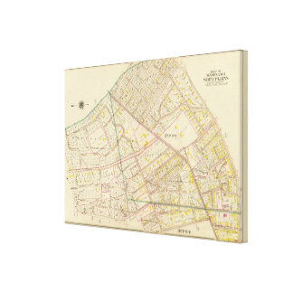 White Plains wards 2-3, New York Stretched Canvas Prints