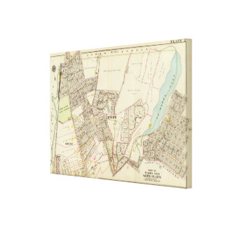 White Plains wards 4-5, New York Gallery Wrapped Canvas