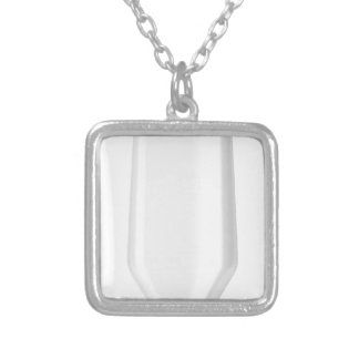 White plastic bottle for shampoo silver plated necklace