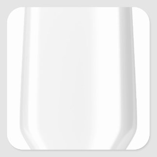 White plastic bottle for shampoo square sticker