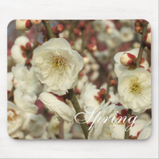 White Plum Blossoms (Spring) Mousepad