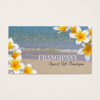 White Plumeria Beach Spa Resort Boutique B&B Business Card