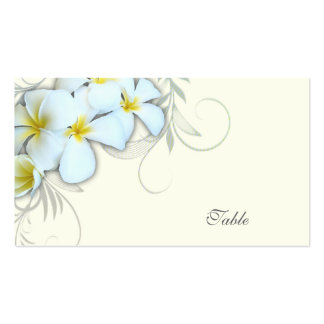 White Plumeria Blank Escort Cards Pack Of Standard Business Cards