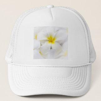 White Plumeria Flower Frangipani Floral Flowers Trucker Hat