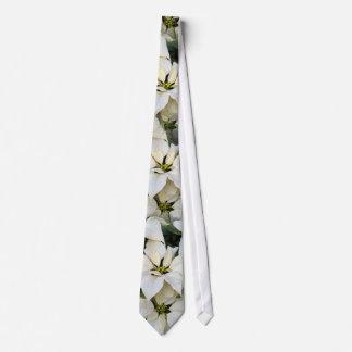 White Poinsettias Wedding Tie