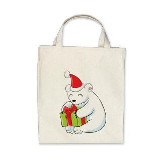 White Polar Bear Christmas Custom Mugs Buttons Hat Bags
