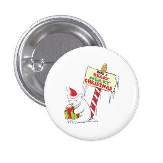 White Polar Bear Christmas North Pole Custom Bags Pins
