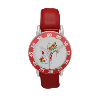 White Polar Bear Christmas North Pole Custom Bags Wristwatch