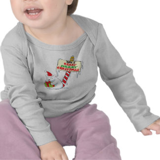 White Polar Bear Christmas North Pole Custom Shirt