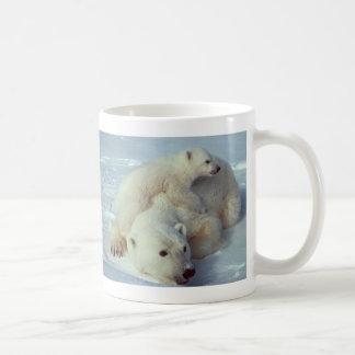 White Polar Bear family Basic White Mug