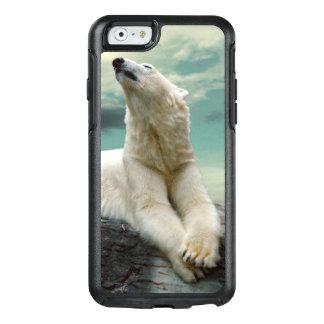 White Polar Bear Hunter on rock OtterBox iPhone 6/6s Case