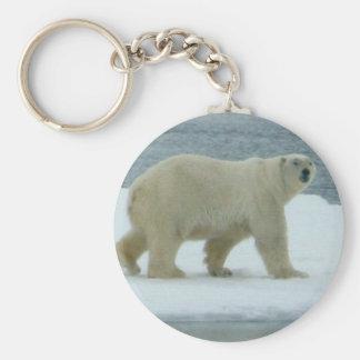 White Polar Bear Key Ring