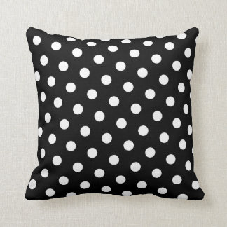 White Polka Dot Cushion
