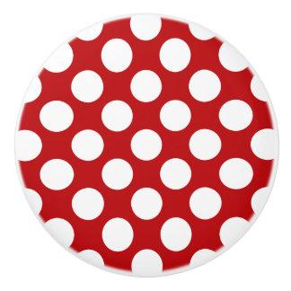 White Polka Dot Design - Drawer Knob