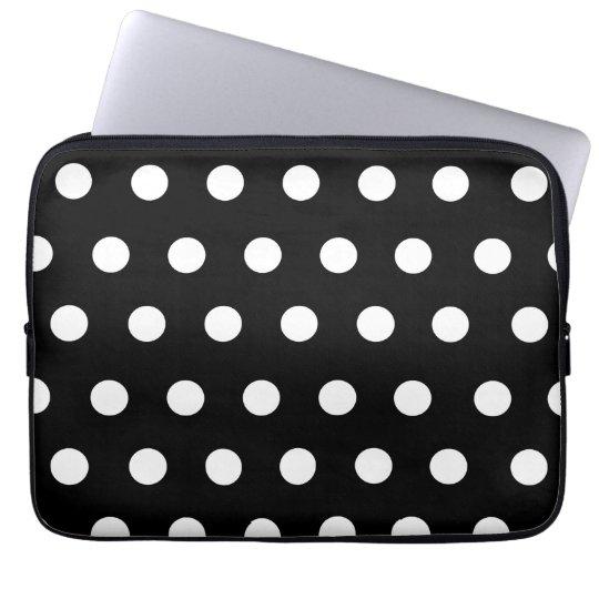 White Polka Dot Electronics Bag