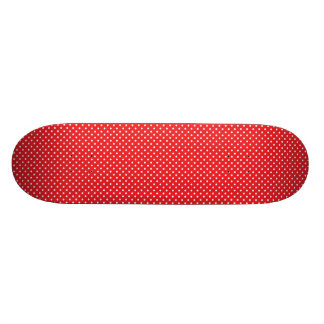 White polka dot on red background custom skateboard