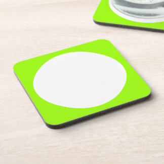 White Polka Dots Any Color change Beverage Coasters