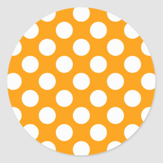 White Polka Dots Any Color change Round Sticker