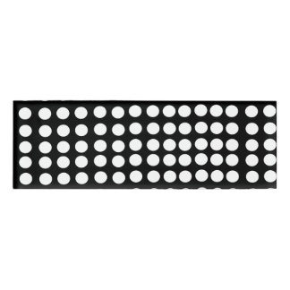 White Polka Dots Name Tag