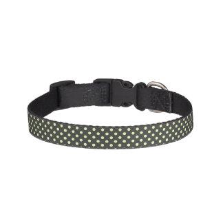 White Polka Dots on Black Dog Collar