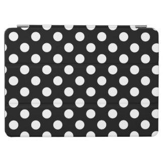 White polka dots on black iPad air cover