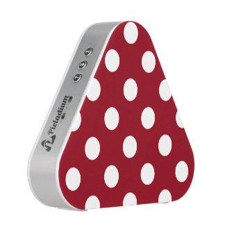 White Polka Dots on Crimson Red