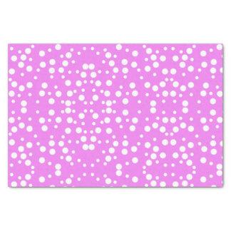 White Polka Dots on Lavender Pink Tissue Paper