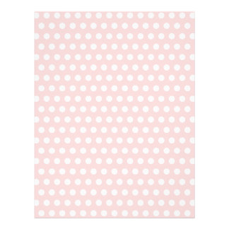 White Polka Dots on Pale Pink Custom Flyer