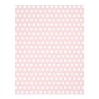 White Polka Dots on Pale Pink 21.5 Cm X 28 Cm Flyer