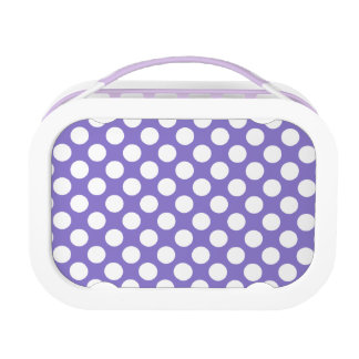 White Polka Dots on Purple Yubo Lunchbox