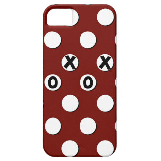 White Polka Dots on Red Background XXX OOO iPhone 5 Cover