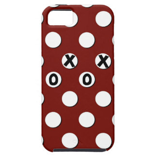 White Polka Dots on Red Background XXX OOO iPhone 5 Covers