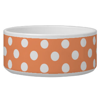 White Polka Dots on Tangerine Orange