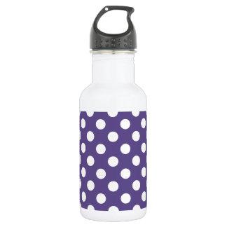 White polka dots on ultra violet 532 ml water bottle
