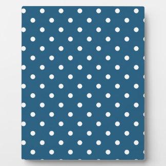 White polka-dots plaque