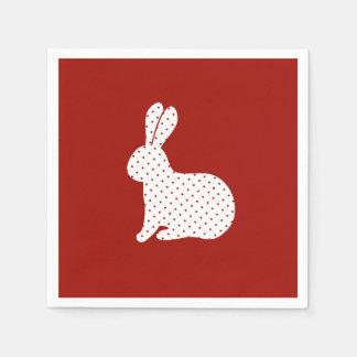 White Polka Dots Rabbit Disposable Serviette