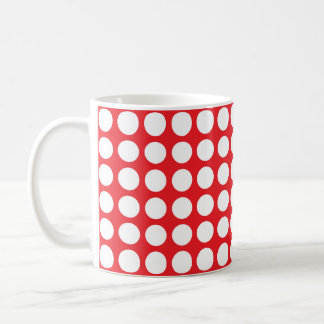 White Polka Dots Red Coffee Mug