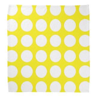 White Polka Dots Yellow Bandana