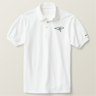 White Polo - Black/Red Embroidered DDP