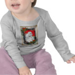 White Poodle Christmas Vintage Style Infant Tee