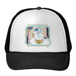White Poodle Cupcake Tea Party Cap