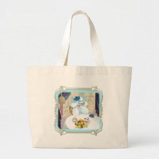 White Poodle Cupcake Tea Party Jumbo Tote Bag