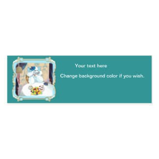 White Poodle Cupcake Tea Party Pack Of Skinny Business Cards