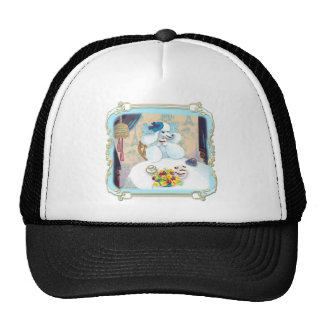 White Poodle Cupcake Tea Party Trucker Hat