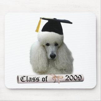 White Poodle Grad 09 Mouse Pad
